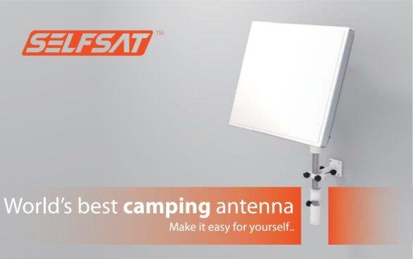 Antena płaska na camping Selfsat CAMP