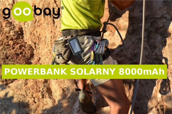 Solarny power bank 8000 z latarką i kompasem