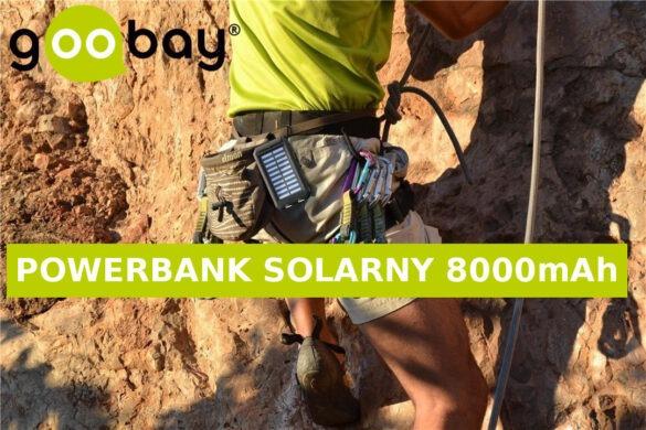 Solarny power bank 8000 z latarką i kompasem