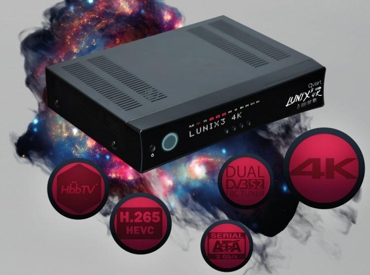 Qviart LUNIX3 4K konkurencja dla vu+ i dreambox z lepszymi możliwościami w dużo lepszej niższej cenie.
