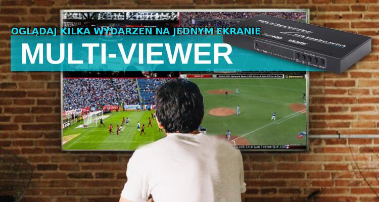 Multiviewer Sumator HDMI z funkcją dzielenia ekranu SPH-MV41PIP