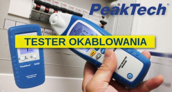 Bezprzewodowy tester okablowania PeakTech 3435