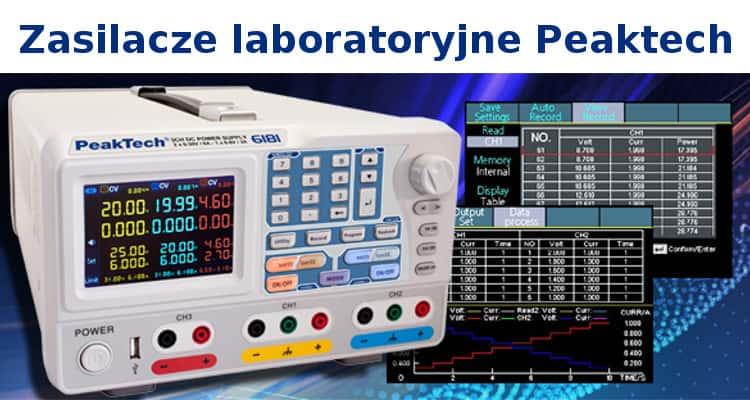 Zasilacz laboratoryjny Peaktech