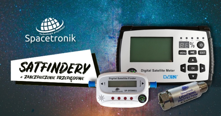 Satfinder SP-SFDM21A, SP-SFDM01 oraz zabezpieczenie SP-I524F