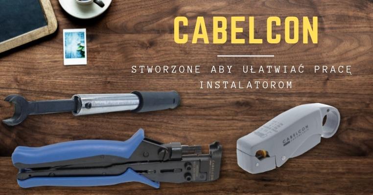 Narzędzia instalacyjne do wtyków i kabli marki Cabelcon