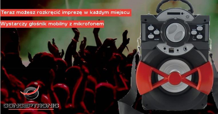 Bezprzewodowy głośnik mobilny z mikrofonem Conceptronic
