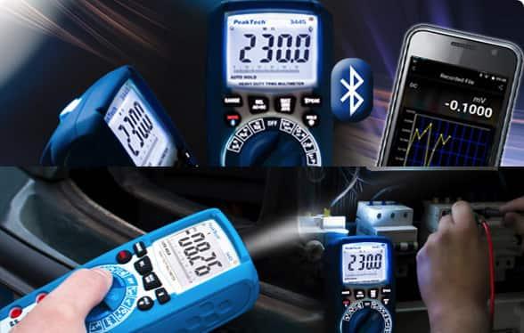 PeakTech® -Multimetr z aplikacją na smartfona