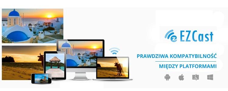 Bezprzewodowy transmiter HDMI EZCast2 i adapter video EZCast DUO