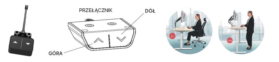 przełącznik sterujący stelażem spe114e