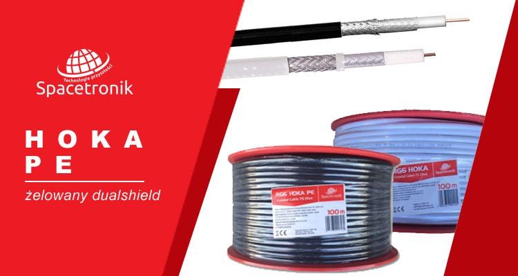 Kabel RG6 HOKA żelowany PE oraz klejony