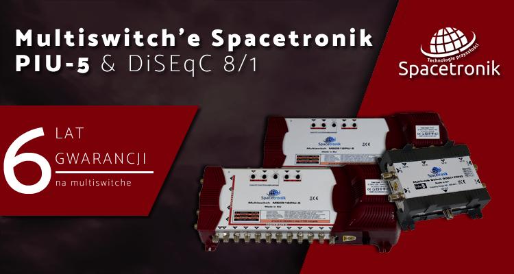 Nowość! Multiswitch PIU-5 oraz DiSEqC S0801 marki Spacetronik