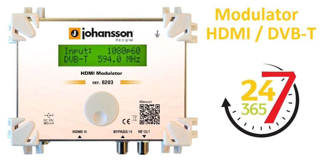 Najbardziej niezawodny modulator na rynku! HDMI w DVB-T Johansson 8203