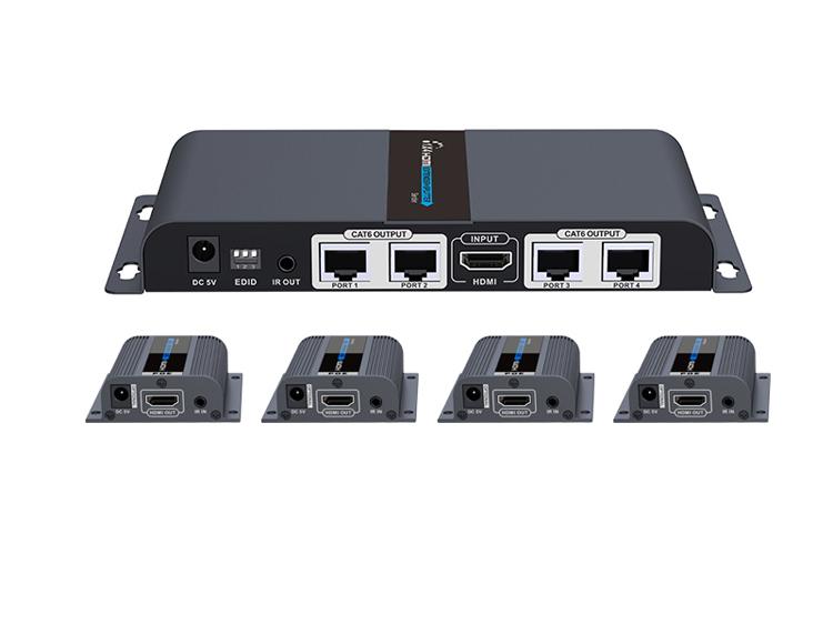 Rozgałęźnik 1/4 HDMI po LAN Spacetronik SPH-RSL104