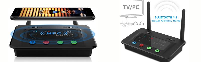 Nadajnik Odbiornik Bluetooth NFC 1Mii B03 70m
