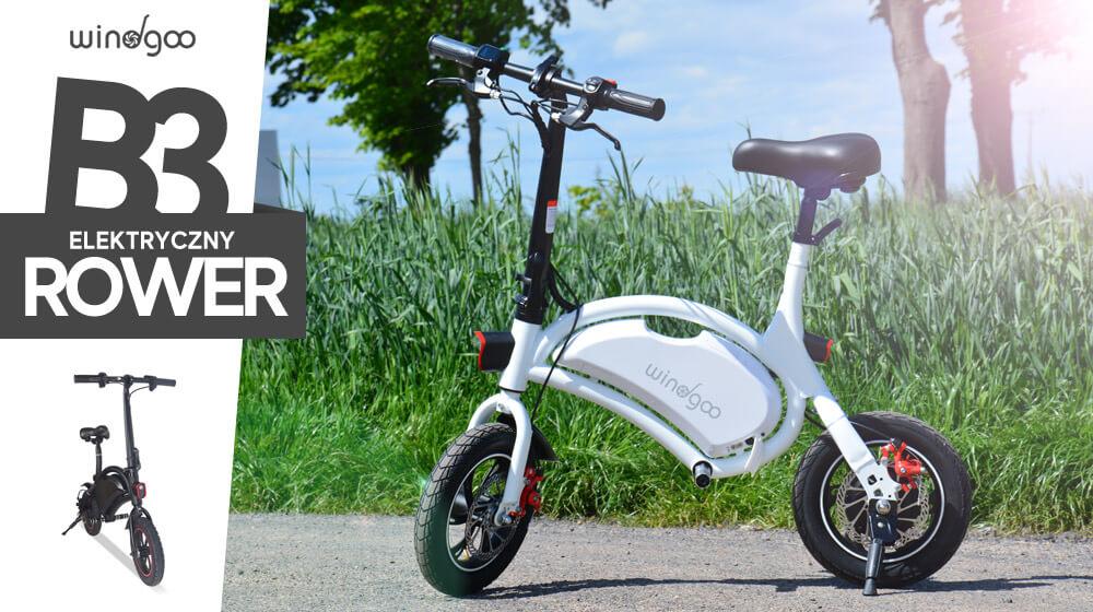 Przemieszczaj się sprawnie z elektrycznym rowerem Windgoo B3