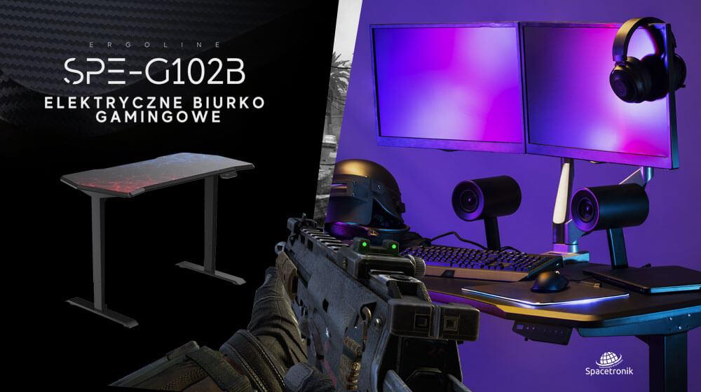 Elektryczne biurko gamingowe SPE-G102B