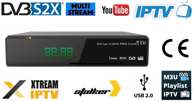Nowa seria odbiorników uClan DENYS DVB-S2X MS + IPTV dla EU