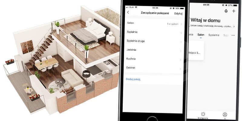 Pomieszczenia i pokoje Smart Life