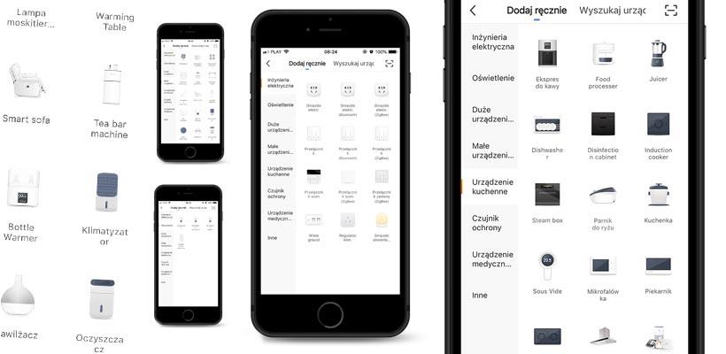 Kompatybilne obsługiwane urządzenia w aplikacji mobilnej