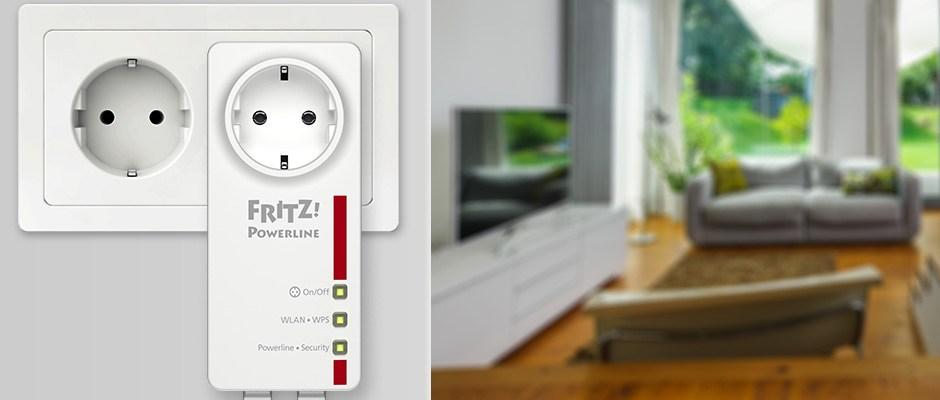 Transmiter powerline PLC Fritz! 520E