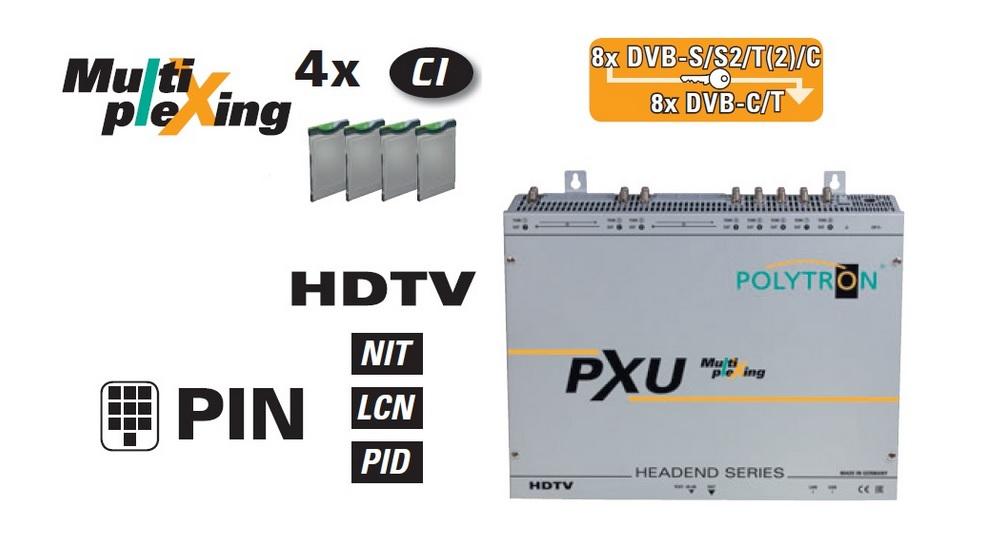 Stacja czołowa MULTIPLEXING POLYTRON PXU 848 DVB-T/C