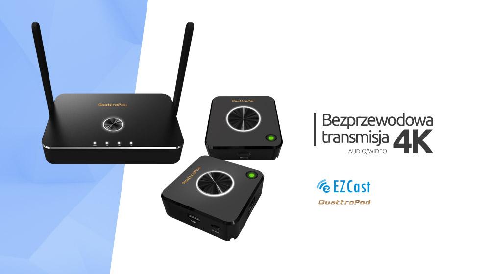 Bezprzewodowa transmisja audio/wideo 4K – EZCast QuattroPod