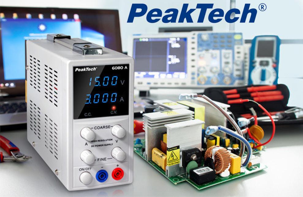 Stabilizowany zasilacz laboratoryjny Peaktech 6080A
