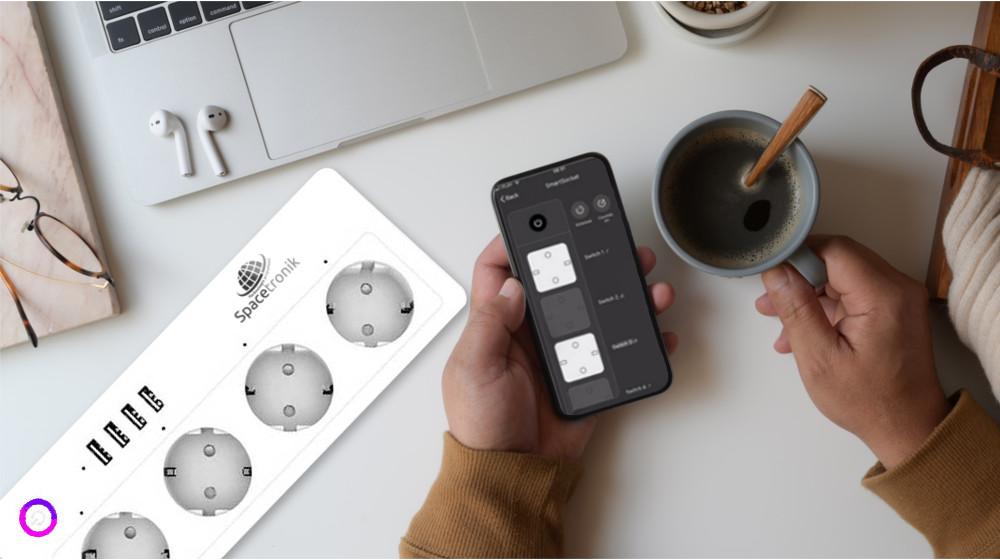 Inteligentna listwa zasilająca z USB Spacetronik Smart Life