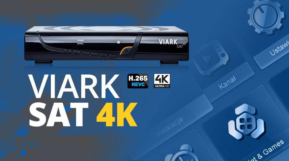 Tuner VIARK SAT 4K HDR10 HLG H.265 DVB-S2X IPTV