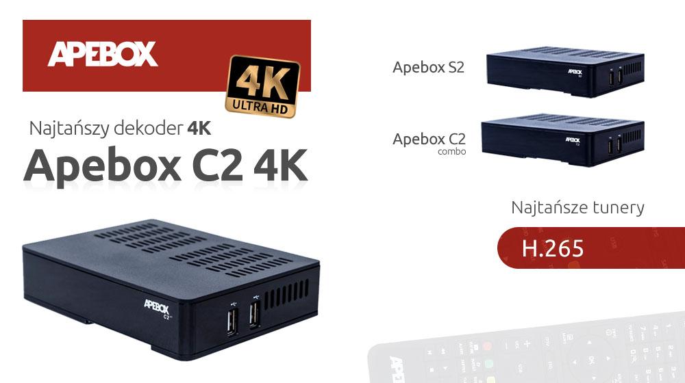 APEBOX nowe dekodery z H.265 i najtańszy 4K !