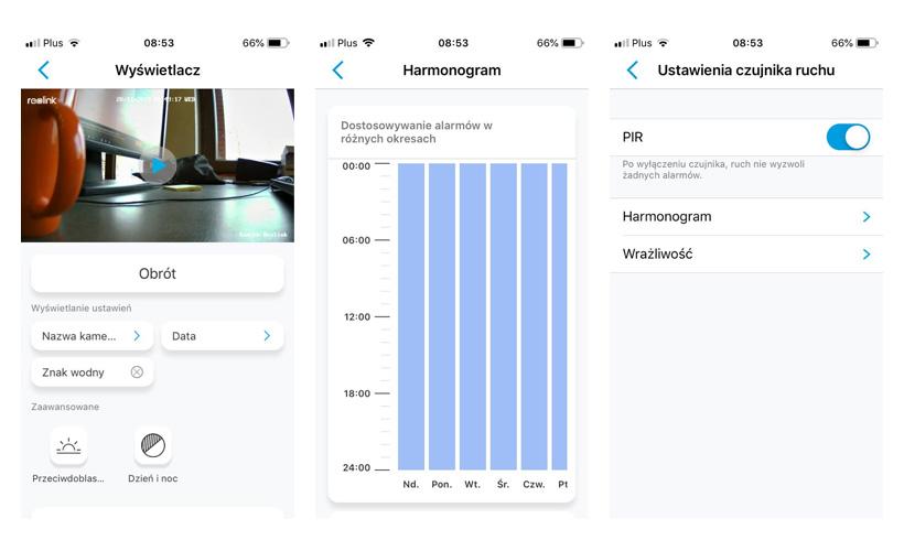 reolink interfejs app