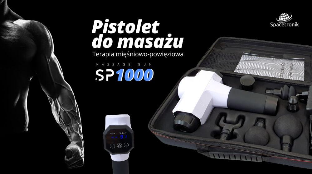 Pistolet do masażu mięśniowo – powięziowego Spacetronik SP1000
