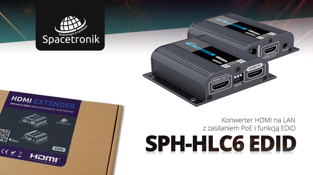 Konwerter HDMI na LAN z zasilaniem PoE i funkcją EDiD
