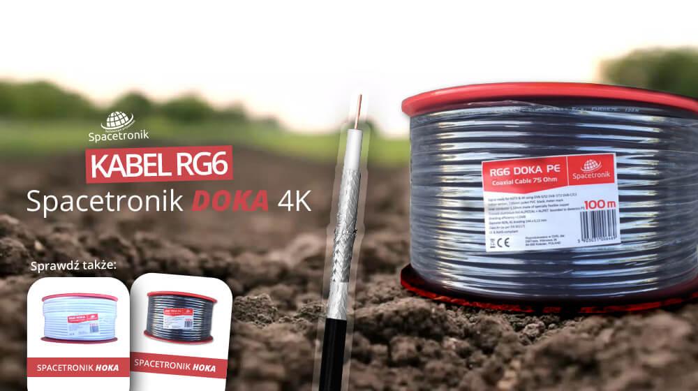 Kabel RG6 DOKA PE żelowany o zwiększonej trwałości