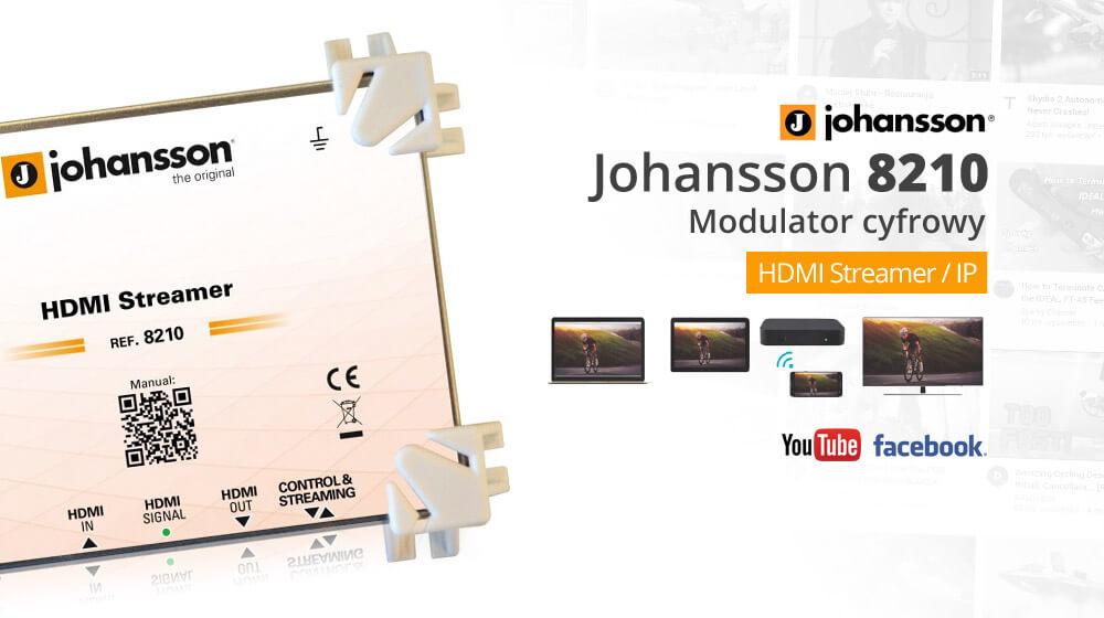 Modulator cyfrowy Johansson 8210 – HDMI / Streamer IP