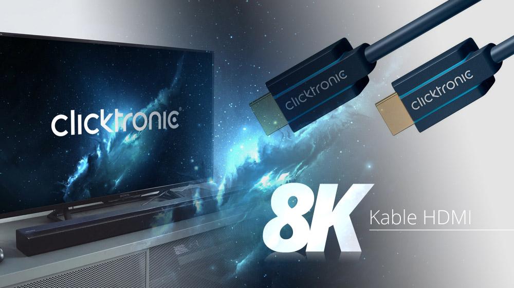 Obrazy ostrzejsze od brzytwy – kable HDMI v2.1 od Clicktronic!