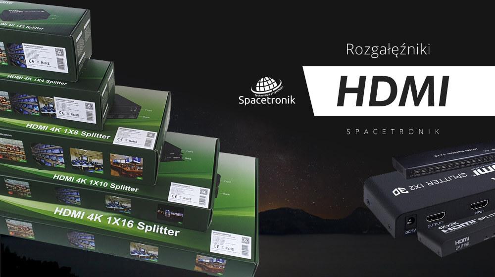 Rozgałęźniki HDMI – seria Spacetronik SPH-RS1xxV4A
