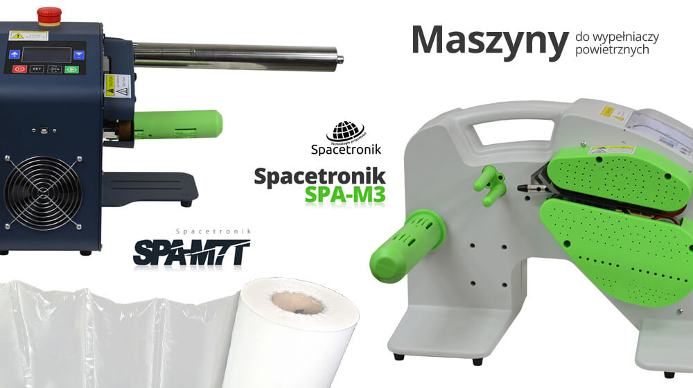 Dwie nowe maszyny do wypełniaczy powietrznych – Spacetronik SPA-M7T oraz SPA-M3