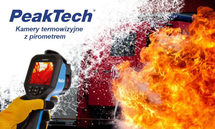 Profesjonalna kamera termowizyjna z pirometrem – nowości PeakTech