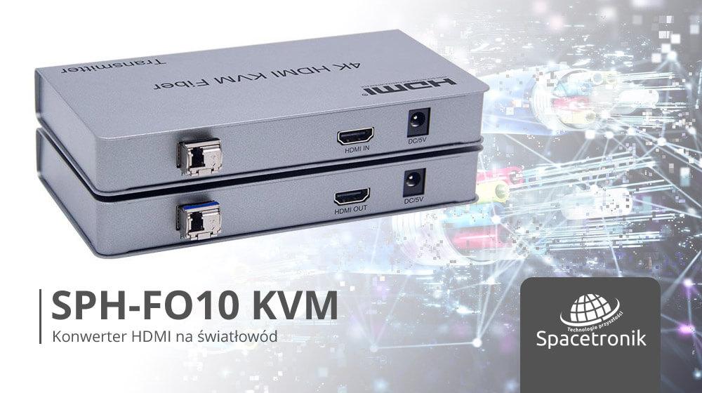 Konwerter HDMI na światłowód Spacetronik SPH-FO10 z KVM