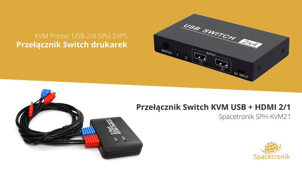 Zarządzanie dwoma PC z jednej klawiatury lub myszy – Switche KVM od Spacetronika