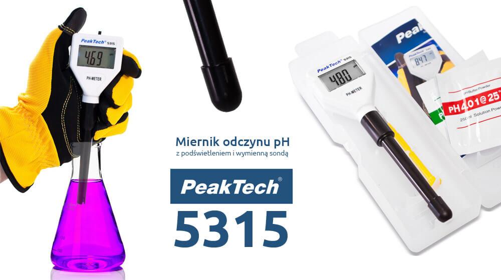 Miernik odczynu pH i cieczy w ofercie producenta PeakTech