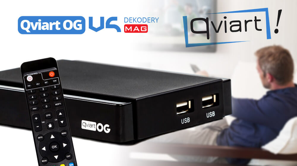 Tuner IPTV OTT Qviart OG HEVC H.265 – solidna konkurencja MAGa!