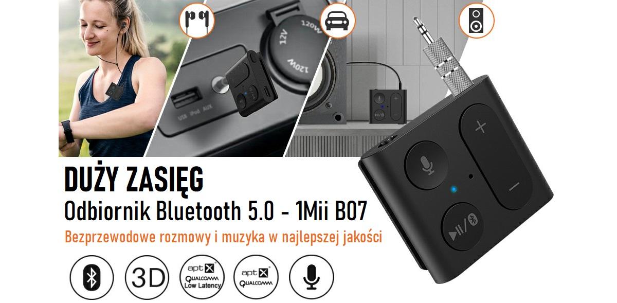 Bezprzewodowy odbiór dźwięku – odbiornik Bluetooth B07 zawsze pod ręką!