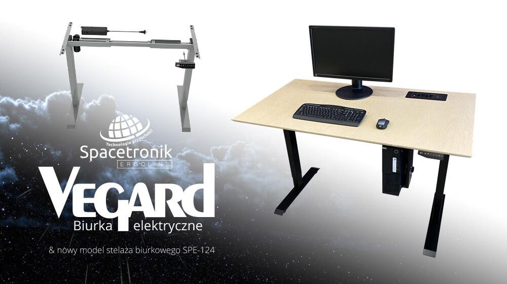 Spacetronik Ergoline: Biurka elektryczne Vegard i stelaż biurkowy SPE-124