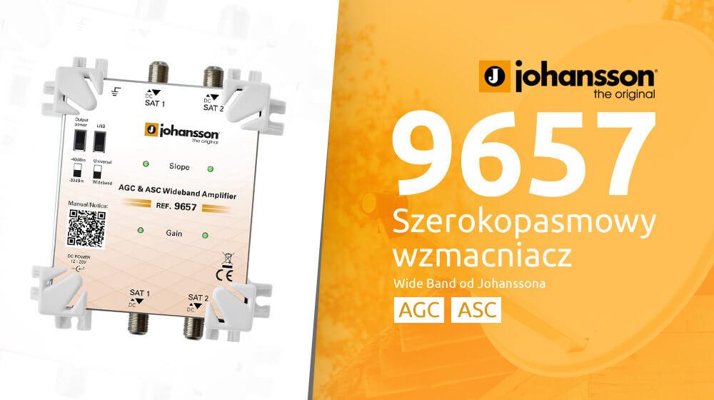 Szerokopasmowy wzmacniacz Wide Band Johansson 9657 z AGC i ASC