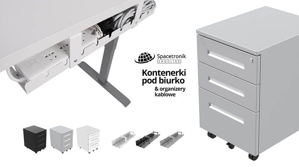 Nowości od Spacetronik Ergoline: Kontenerki pod biurko & organizery kabli