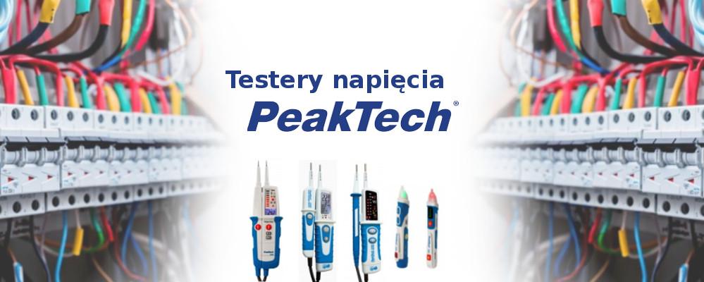Dwubiegunowy i bezdotykowy tester napięcia w ofercie producenta PeakTech