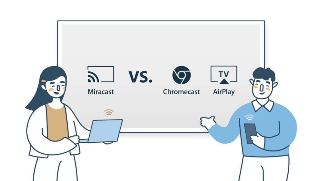 Chromecast airplay miracast