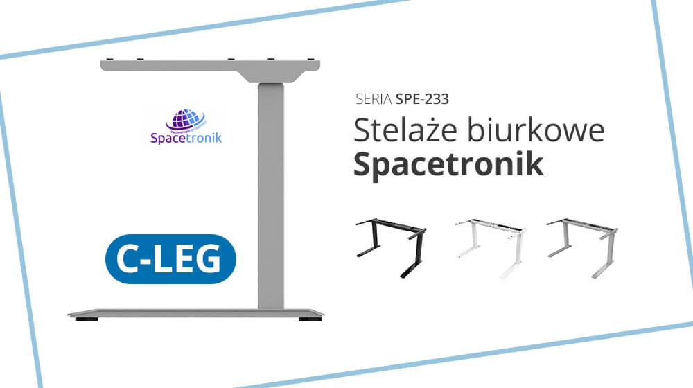 Nowy stelaż biurkowy C-LEG w ofercie Spacetronik – Seria SPE-233